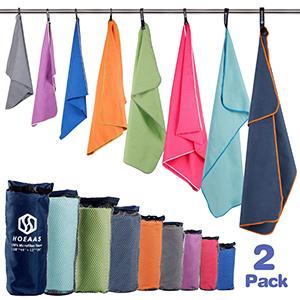 Best Hoeaas microfiber sport travel Backpacking Towel